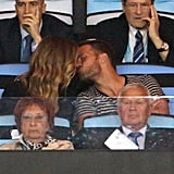 The couple shared a kiss in the stands at the 2014 World Cup in Brazil.