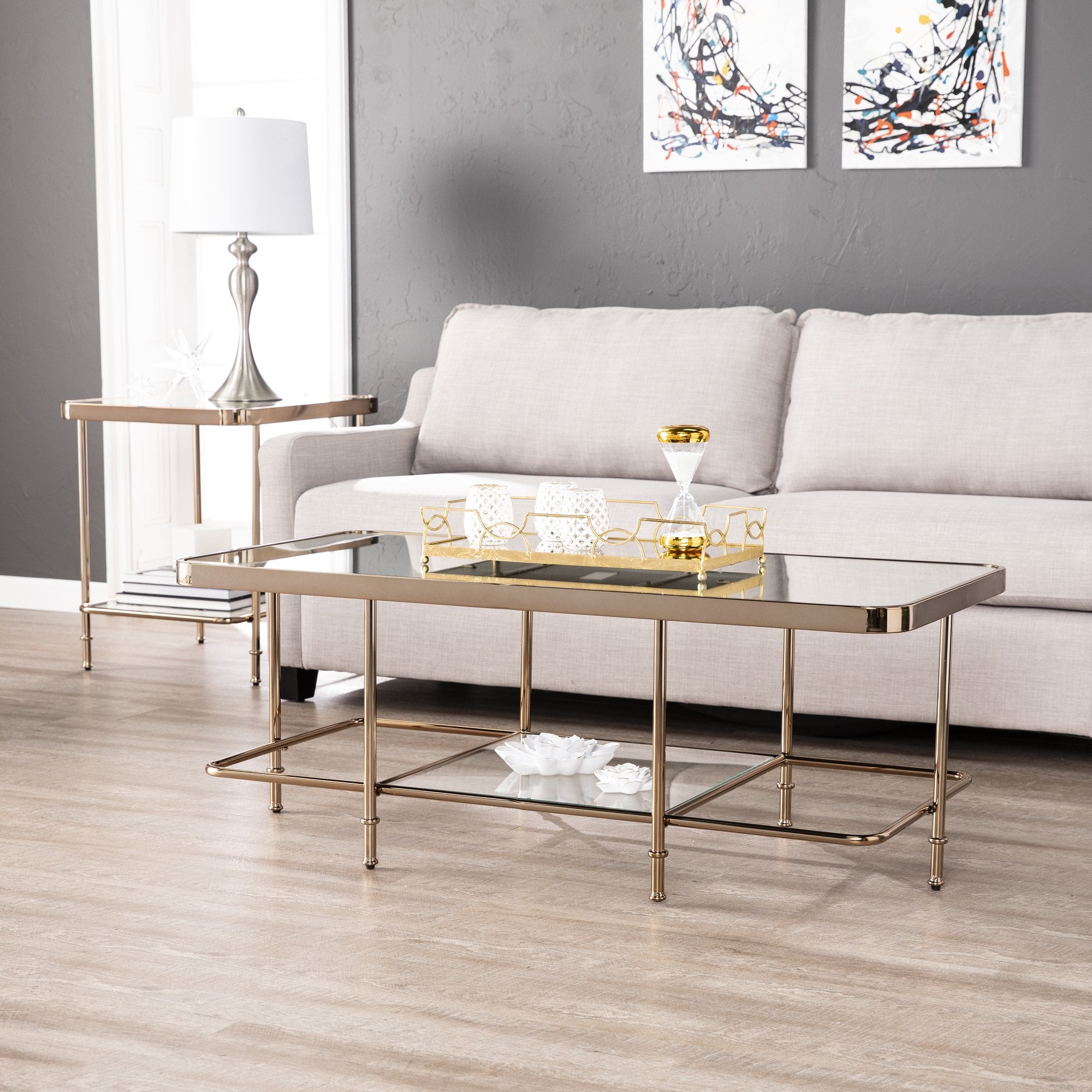 Southern Enterprises Hollywood Glam Mirrored Coffee Table ...