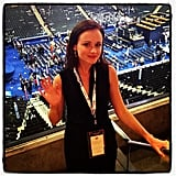 We caught up with Alexis Bledel, a surrogate for Obama, after Michelle Obama's speech.