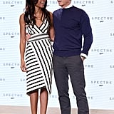 Daniel Craig and Naomie Harris attended a photocall to announce the name of the upcoming James Bond movie, Spectre, in Iver Heath, England, on Thursday.