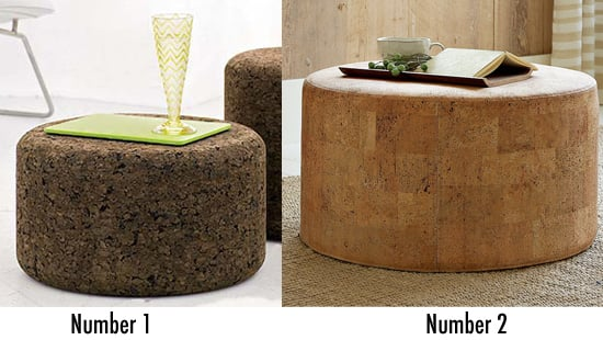 Less or More: Cork Ottoman