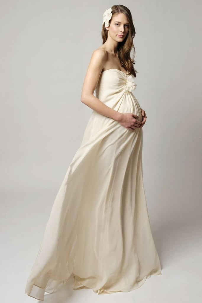 Maternity wedding dresses popsugar moms for Maternity dress for a wedding