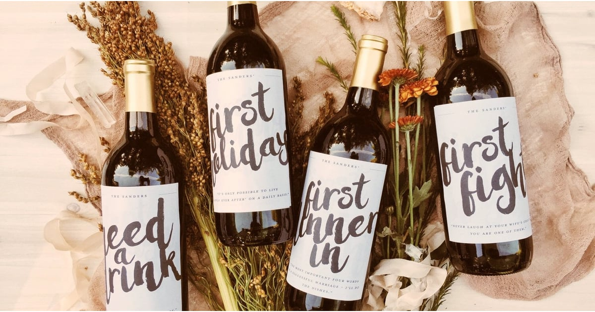 These Marriage Milestone Wine Labels Make Such Thoughtful Wedding Gifts