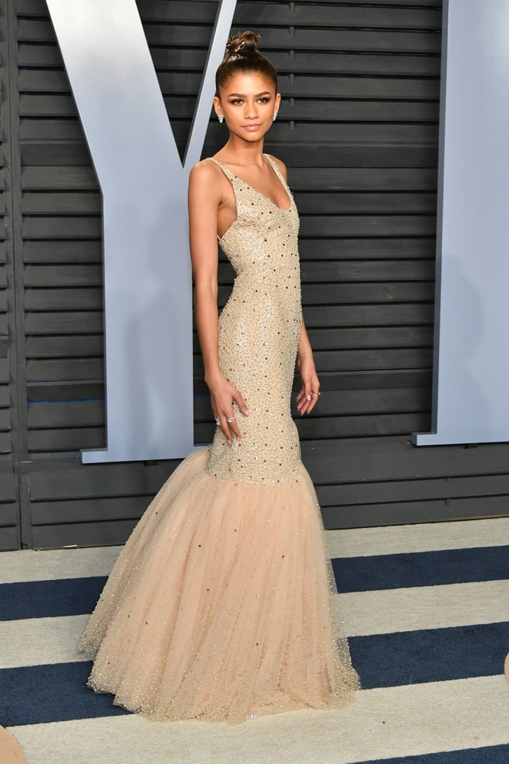 Zendaya Vanity Fair Oscars Party Dresses 2018 Popsugar