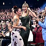 Halsey and Taylor Swift at the 2019 American Music Awards