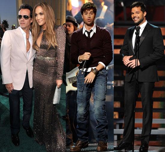 Jennifer Lopez, Marc Anthony, Enrique Iglesias, Ricky Martin, Nelly Furtado, Camilla Belle at the 2010 Latin Grammys