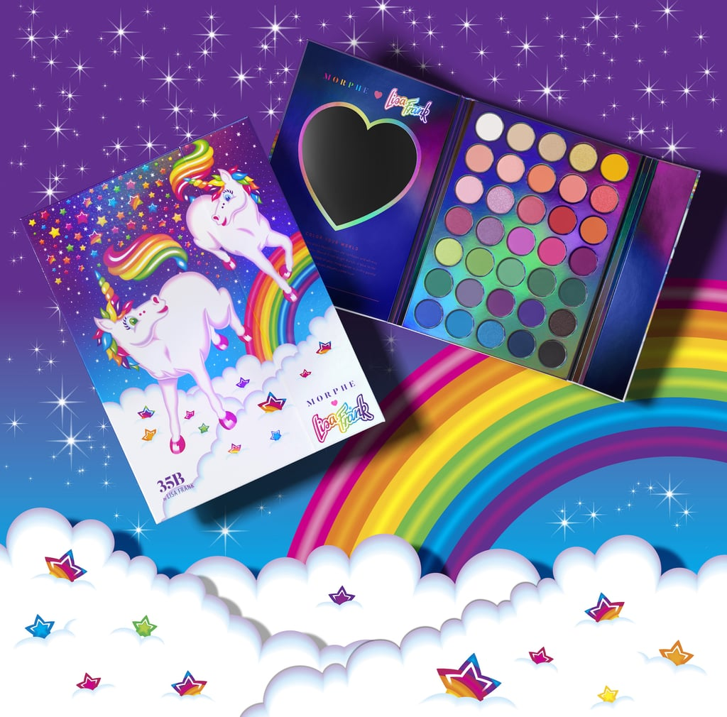 35B By Lisa Frank Artistry Palette — Prancing Unis ($30) in unicorn-print packaging.