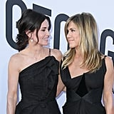 June 2018: Courteney Cox and Jennifer Aniston Pose at the AFI's Tribute to George Clooney