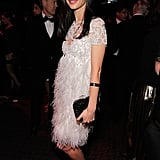 Georgina Chapman gave a smile at the Time 100 party in NYC.