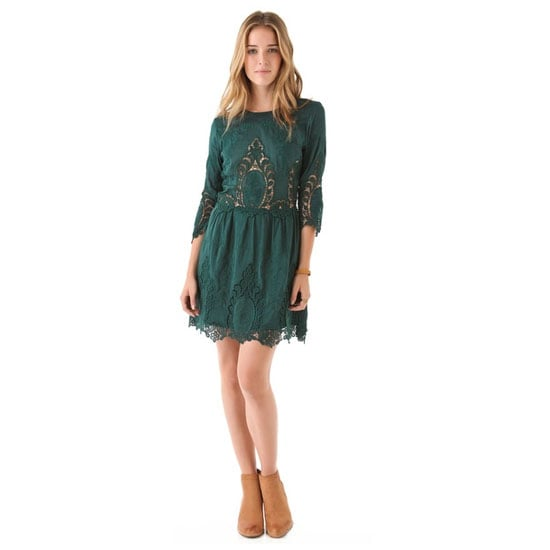 In 2012 I bought a pair of forest green jeans that I loved, and I was pleasantly surprised to find that they went with pretty much everything. I'm thinking of investing in another similar hue, such as this dress — it's an unexpected colour for a style that's so pretty and feminine. — Jess, PopSugar editor  Dress, approx $189, Dolce Vita at Shopbop