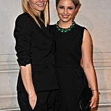 Gwyneth Paltrow and Dianna Agron in black at the Louis Vuitton Marc Jacobs exhibit.