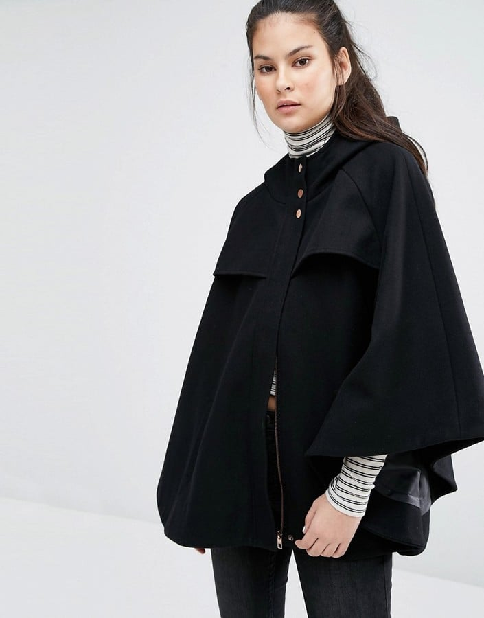 Only Wool Cape Coat