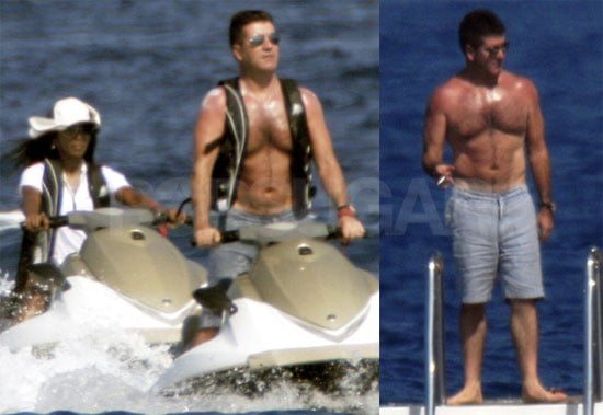 Photos of Simon Cowell Shirtless in St. Tropez