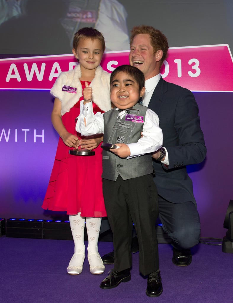 Later in the day, Prince Harry attended the WellChild Awards.
