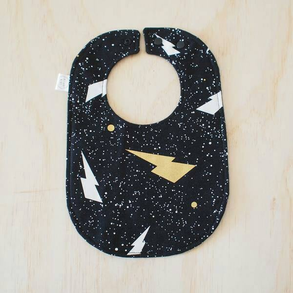 Metallic Lightning Bolt Bib