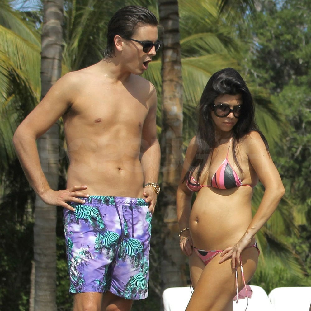 Kourtney and Scott kept an eye on Mason.