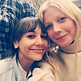 Gwyneth Paltrow shared a cute photo with Rashida Jones on Sunday.