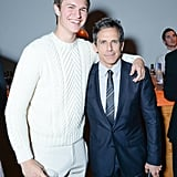 Ansel Elgort towered over Ben Stiller at the CFDA/Vogue Fashion Fund Awards in NYC on Monday night.