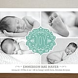 Minted Festive Baby Christmas Photo Cards