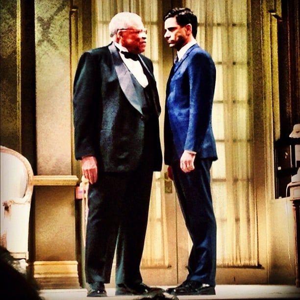 John Stamos hit the stage with James Earl Jones for a performance of The Best Man on Broadway. Source: Instagram user jockostamps