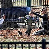 Gisele Bundchen Swings With Benjamin and Jack Brady Pictures