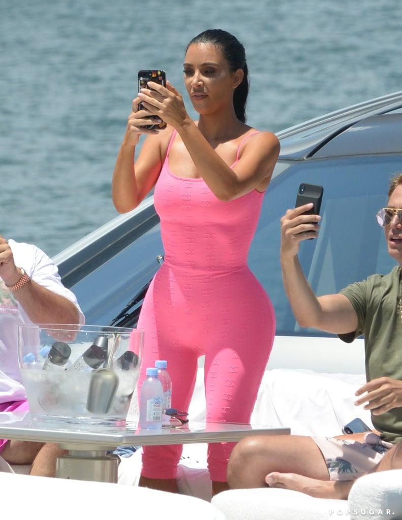 Kim Kardashian Pink Chanel Bodysuit