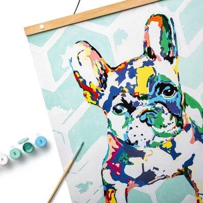 Mondo Llama Paint-By-Number Canvas Kit French Bulldog