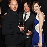 Three statues are better than one! Robert Downey Jr., Norman Reedus, and Allison Williams all held onto crystal statues.