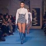 Bella Hadid Walking the Off-White Runway at Paris Fashion Week Womenswear Fall/Winter 2018/2019