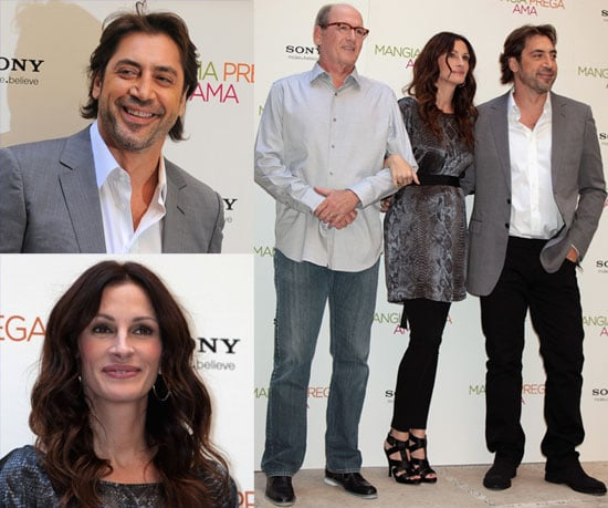 Javier Bardem, Julia Roberts and Richard Jenkins in Rome for the Eat Pray Love Premiere