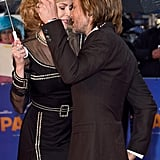 Nicole Kidman and Keith Urban showed sweet PDA on the red carpet at the premiere of Paddington in London on Sunday.