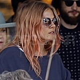 Sienna Miller with pink hair.