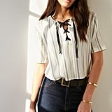 BDG Tavi Lace-Up Blouse ($69)