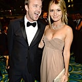 Aaron Paul had his wife, Lauren, on his arm at the HBO afterparty.