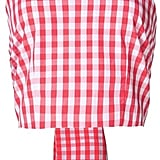 Vivetta gingham print crop top ($255)