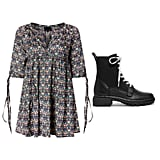 Cynthia Rowley Plus Size Penelope Orange Blossom Dress + Rag & Bone Shiloh Leather Ankle Boots