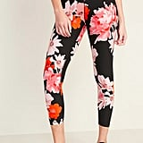 Old Navy High-Waisted Elevate 7/8-Length Floral Compression Leggings for Women