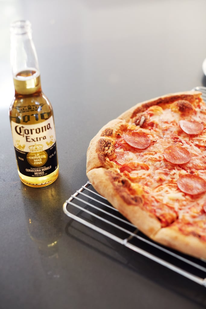 Cook a pizza over the barbecue.