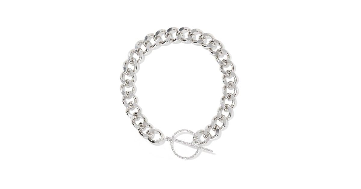 Isabel Marant Silver-plated Crystal Choker O183ZfF0JB