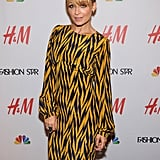 Nicole Richie had an updo hairstyle.