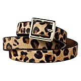 Women's Leopard Print Calf Hair Belt