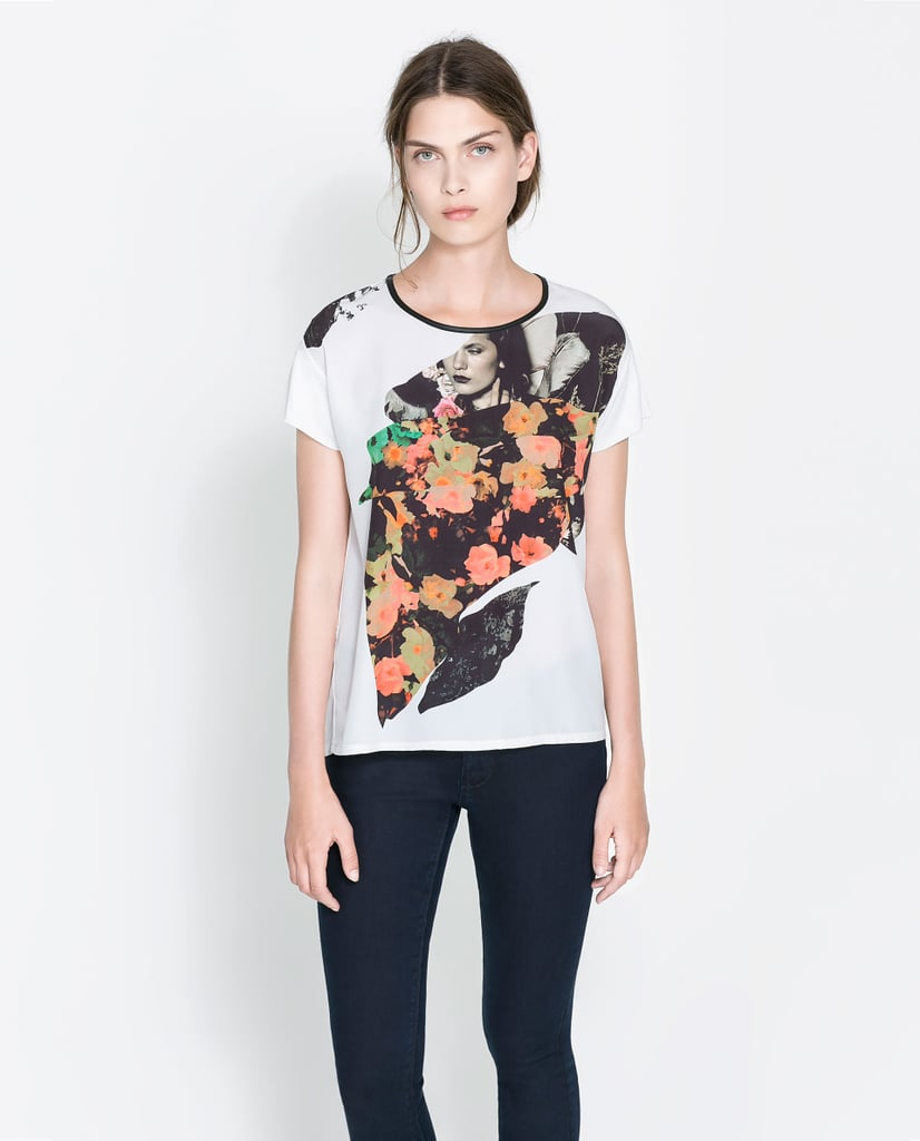 Try This Zara Printed T Shirt 30 Because We Like Our Tees A