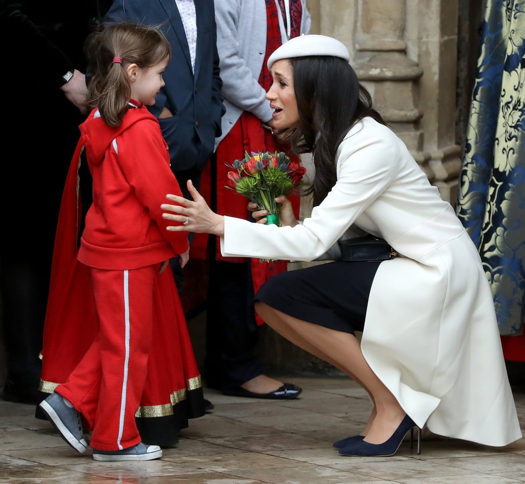 Meghan Markle Talks To Little Girl At Commonwealth Day