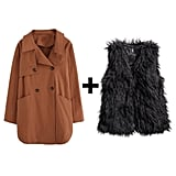 Loose Trench and Shaggy Vest