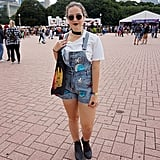 Embroidered denim is not only one of 2017's biggest trends, but also adds a little bit of fun to any standard jeans or overalls at a festival.