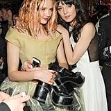 Lily Cole and Irina Lazareanu. Source: Neil Rasmus/BFAnyc.com
