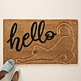Anthropologie Stretching Cat Doormat