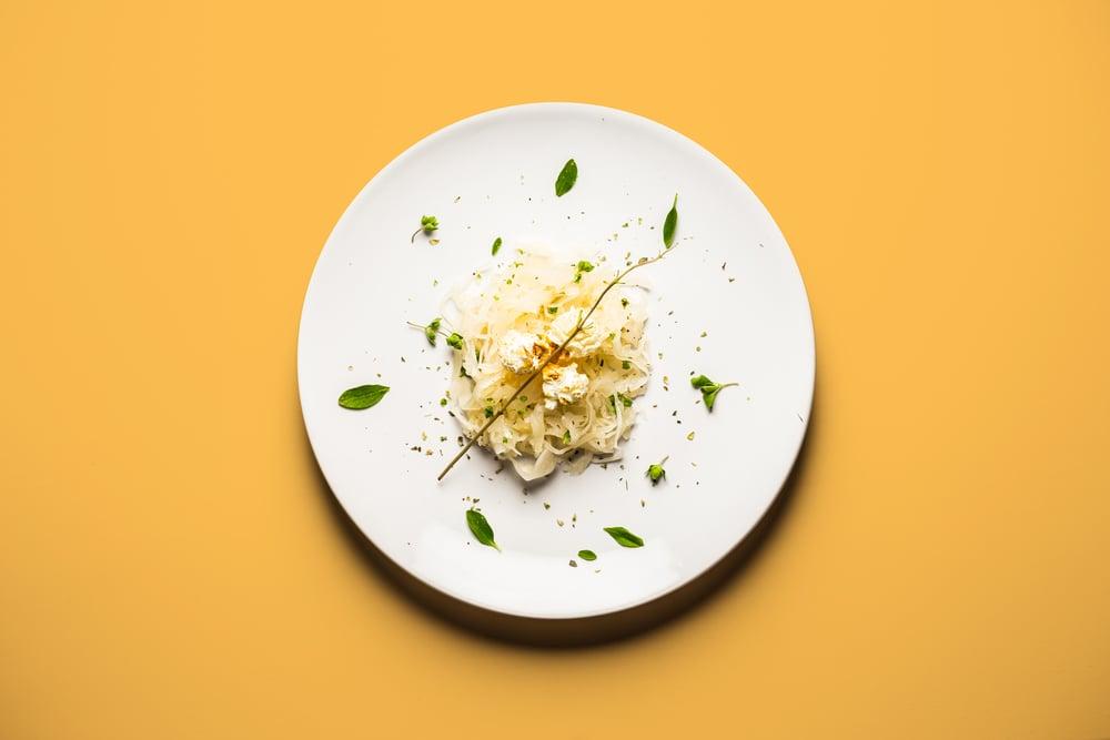 Popcorn on a Bed of Sauerkraut
