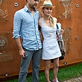 Diane Kruger and Joshua Jackson coupled up for a picture.