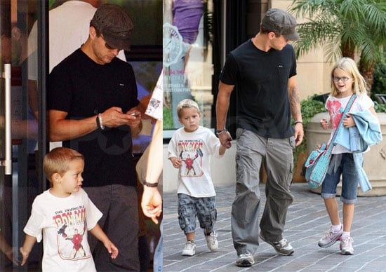 Photos of Ryan Phillippe with Ava and Deacon